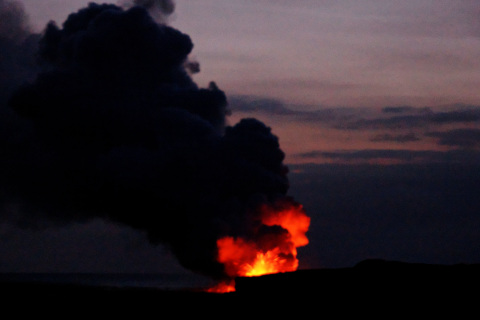 Hawaii: Kilauea en éruption